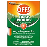 OFF! Deep Woods Mosquito and Insect Repellent Wipes, Long lasting, 12 Individually...