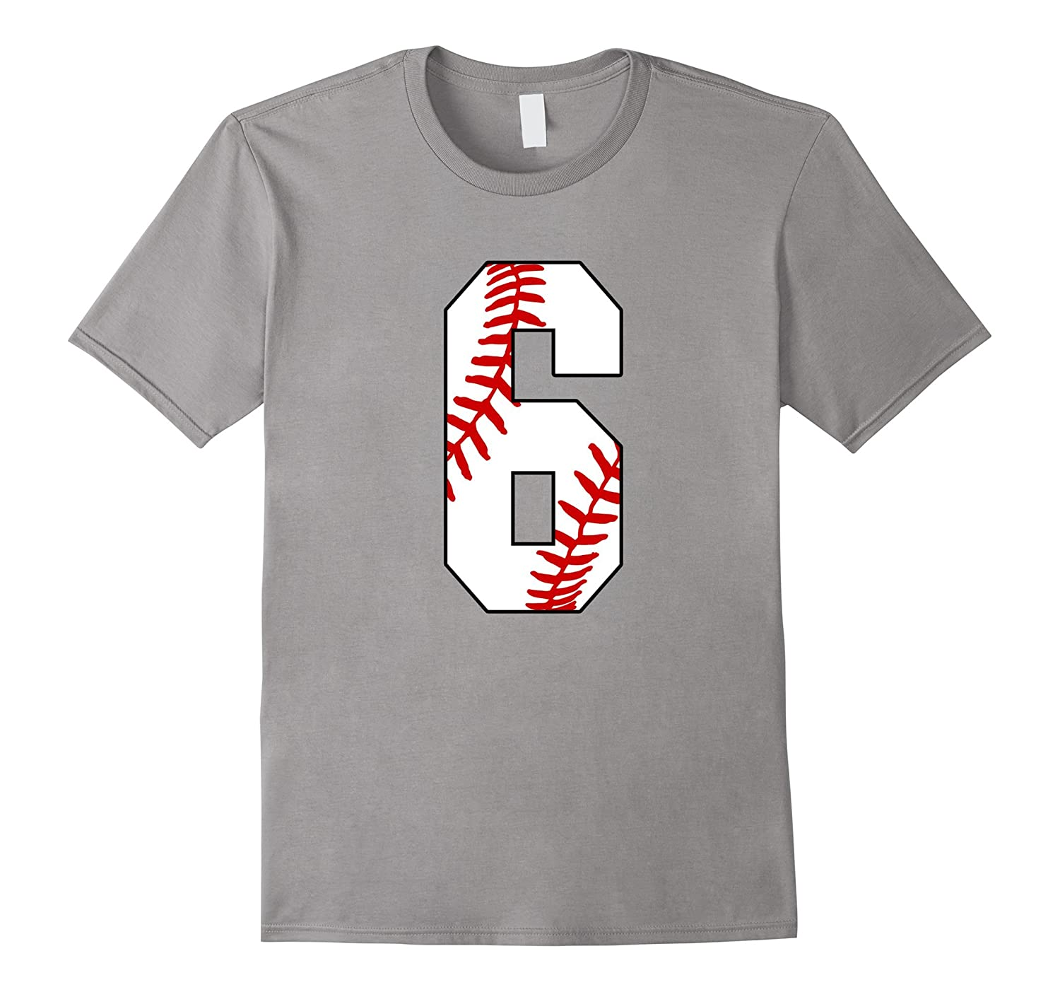 #6 Baseball 6th Birthday Boy Six Years T-shirt-TH