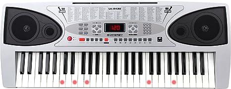 54 Tasten Leuchttasten Keyboard E-Piano Lern Klavier 100 Sounds /& Rhythmen