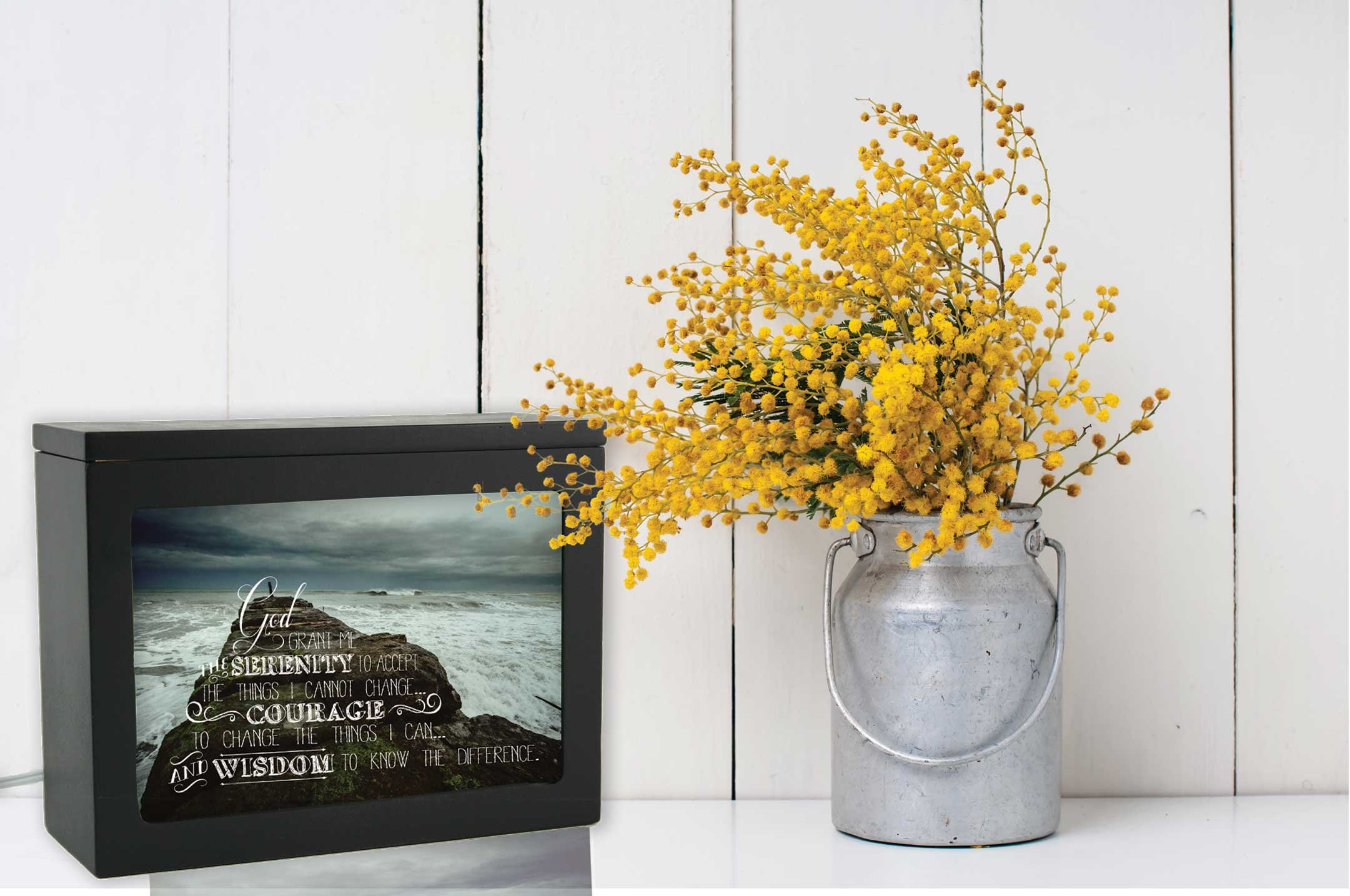 Jada Venia 4-211 - 7'' x 5'' Serenity Prayer Photo Light Box Insert
