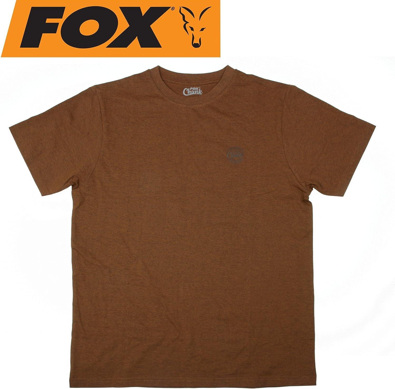 T-Shirt f/ür Angler Anglershirt Angelshirt Tshirt Zum Angeln im Sommer Fox Chunk Classic Orange Marl Tshirt