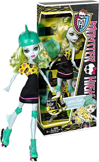 Amazon Com Lagoona Blue Daughter Of The Sea Monster 10 5 Monster High Skultimate Roller Maze Figure Toys Games