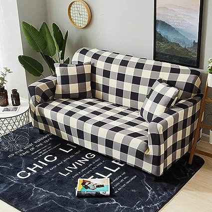 Amazon.com: Funda protectora para sofá de Spandex con funda ...