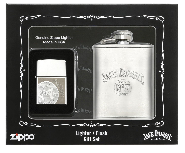 Amazon.com: Zippo Jack Daniels Lighter Flask Gift Set: Sports & Outdoors