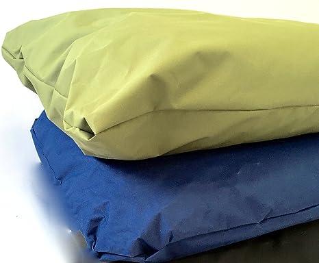 doggyzzzuk Cojín impermeable para cama de perro con funda resistente extraíble de grado militar