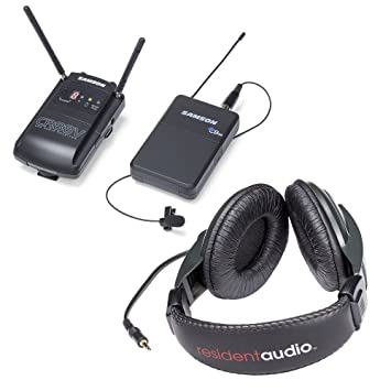 Samson Concierto 88 Cámara (sistema de micrófono inalámbrico UHF lavalier) - K banda W/residente auriculares Audio R100: Amazon.es: Instrumentos musicales