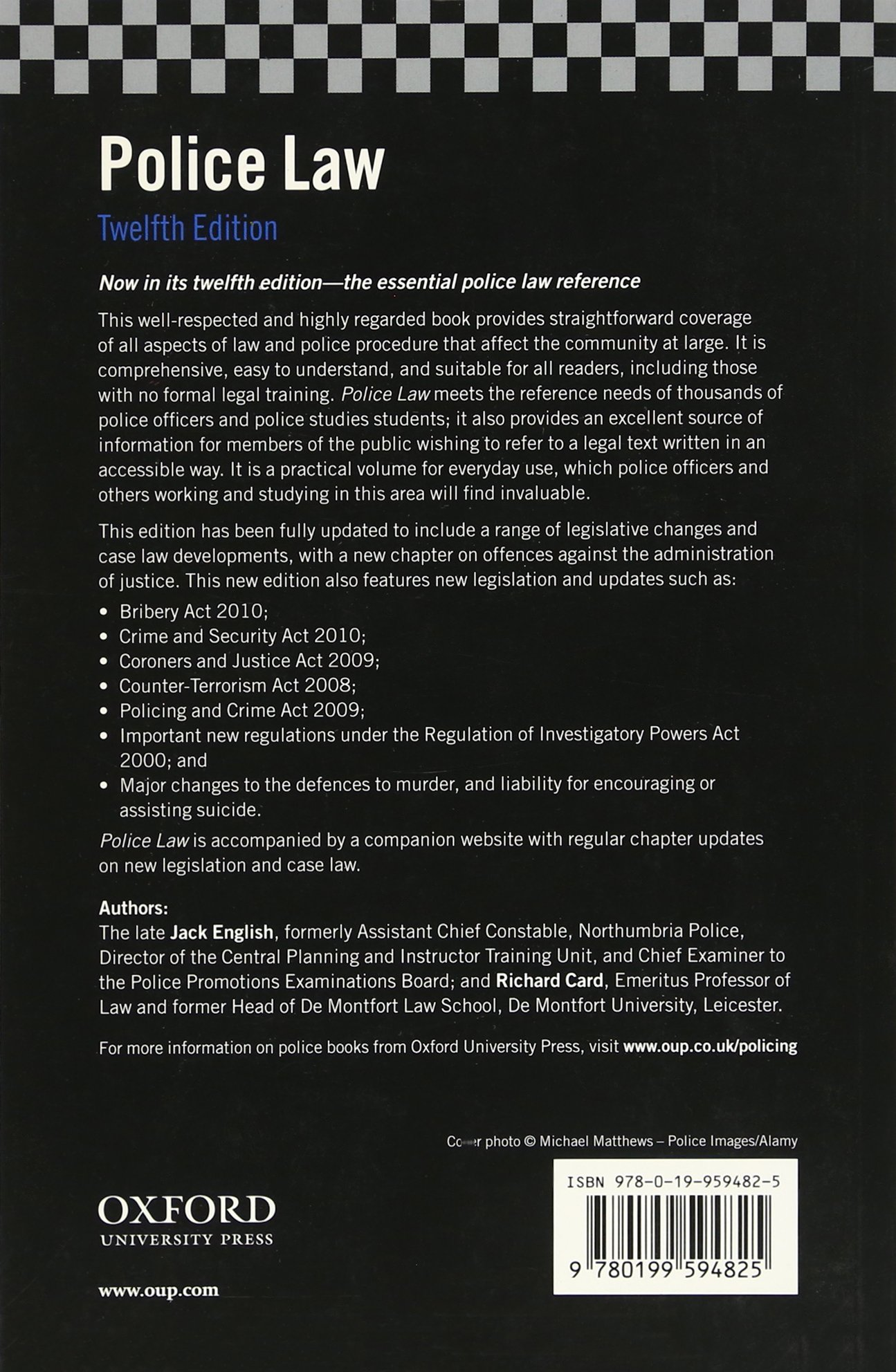 Police Law: Amazon co uk: Jack English, Richard Card