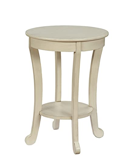 Amazon Com Acme Furniture 84526 Moacir Antique White Side Table