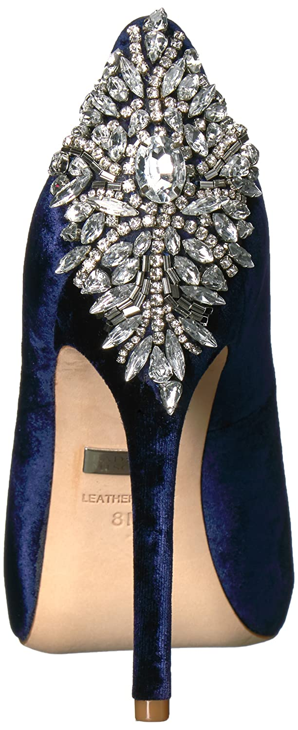 Badgley Mischka Women's Kiara Dress Pump B01MYGMJCN 7 B(M) US|Navy Velvet