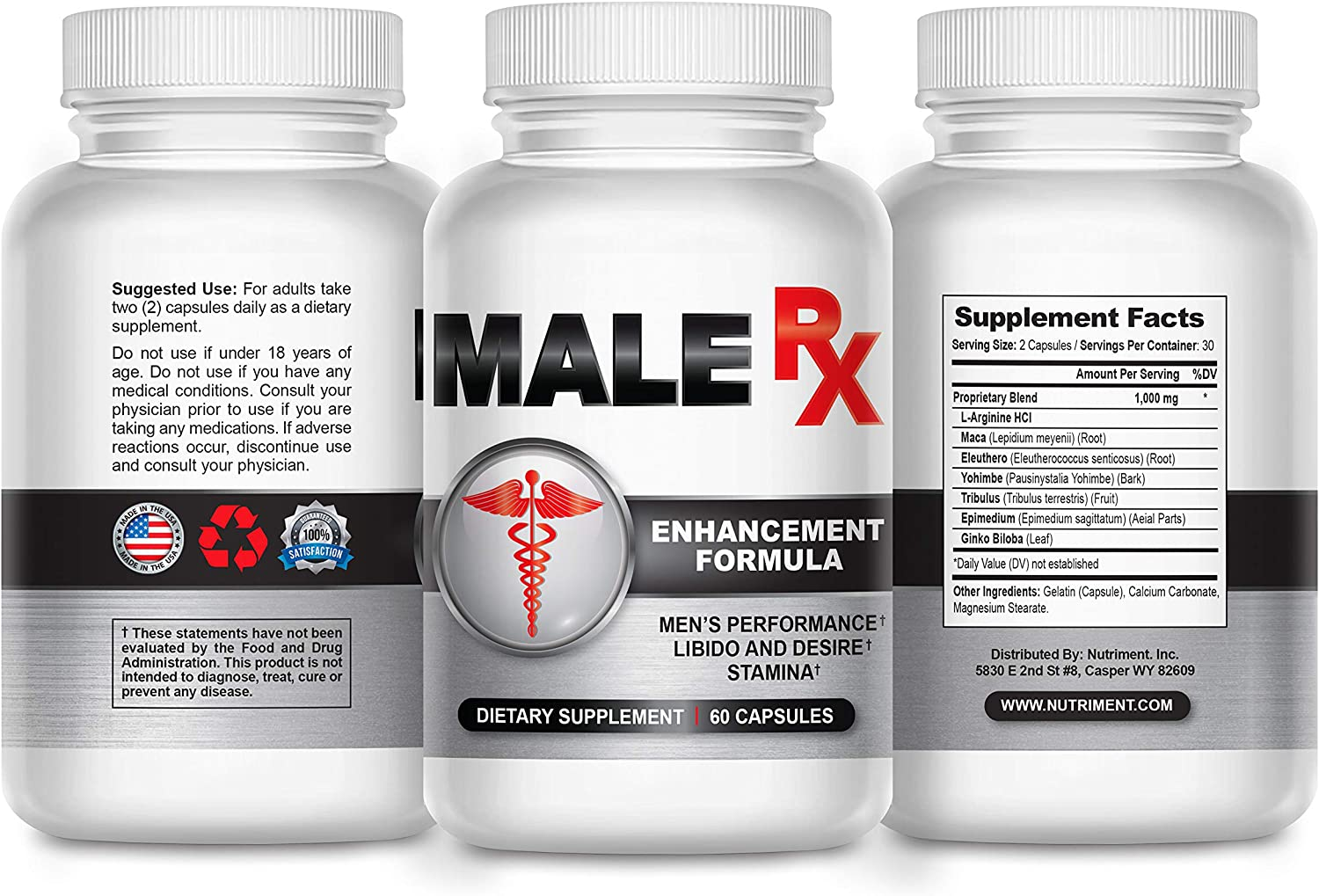 Amazon.com: Male RX Pro- Male Enhancement Pills for Fast Growth-  Enlargement Supplement Made for Men- Fast Acting and Side Effect Free-  Increase Male Size and Add Inches Fast- 60 Caps: Health &