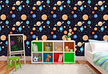 Buy Printelligent Galaxy Universe Space Stars Sky Moon Earth Wallpaper Self Adhesive Wallpaper Size 10 Sq Ft 16 X 90 Inch Online At Low Prices In India Amazon In
