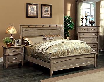 Furniture Of America Vine II Rustic Style Solid Wood Bed, Queen, Reclaimed  Oak Part 70