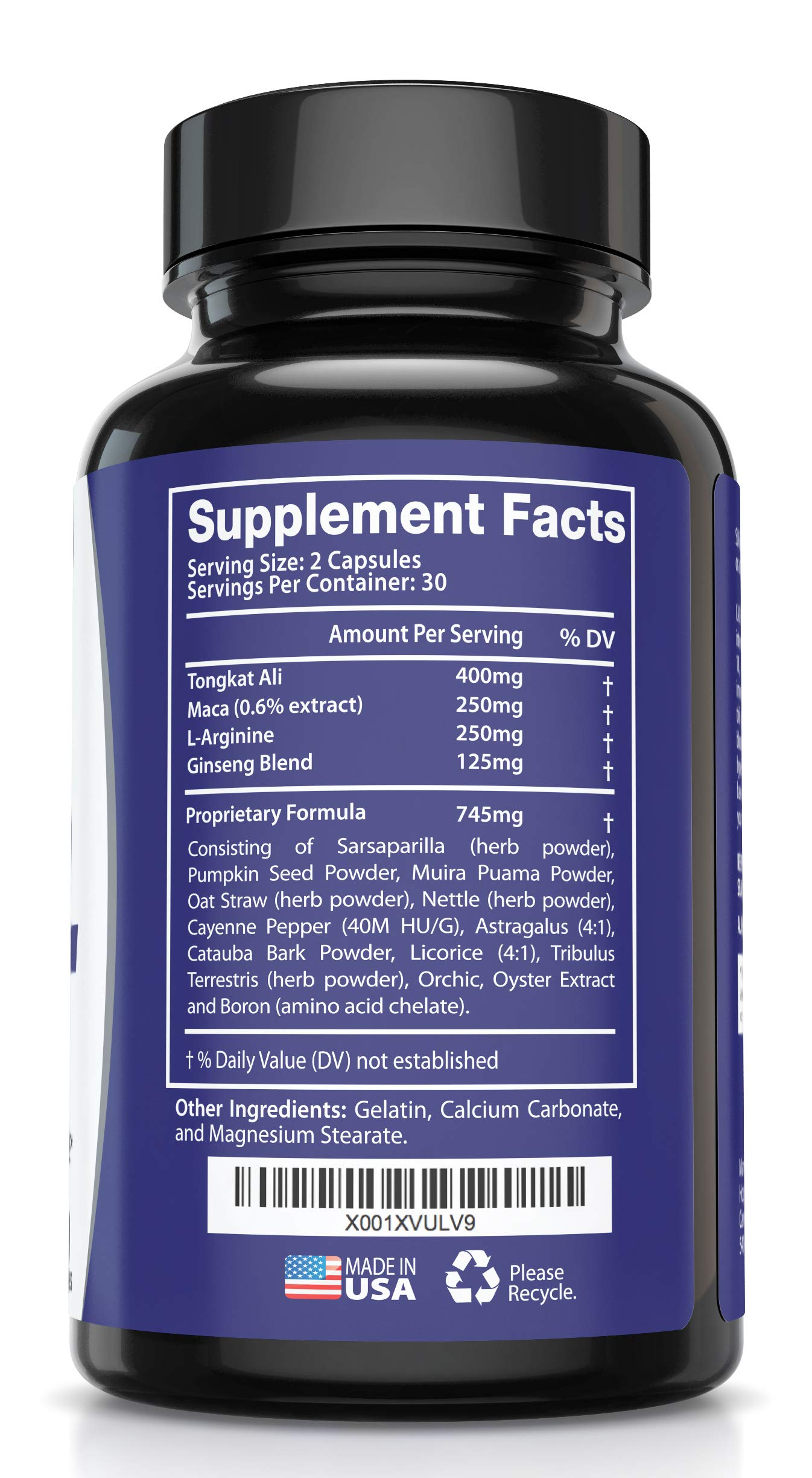 Best Fast-Acting Male Enhancing Pills - #1 Testosterone Booster for Men Increase Size, Drive, Stamina & Endurance - L Arginine, Tongkat, Maca, Ginseng Supplement - Boost Energy, Muscle & Performance by HMC (Image #6)
