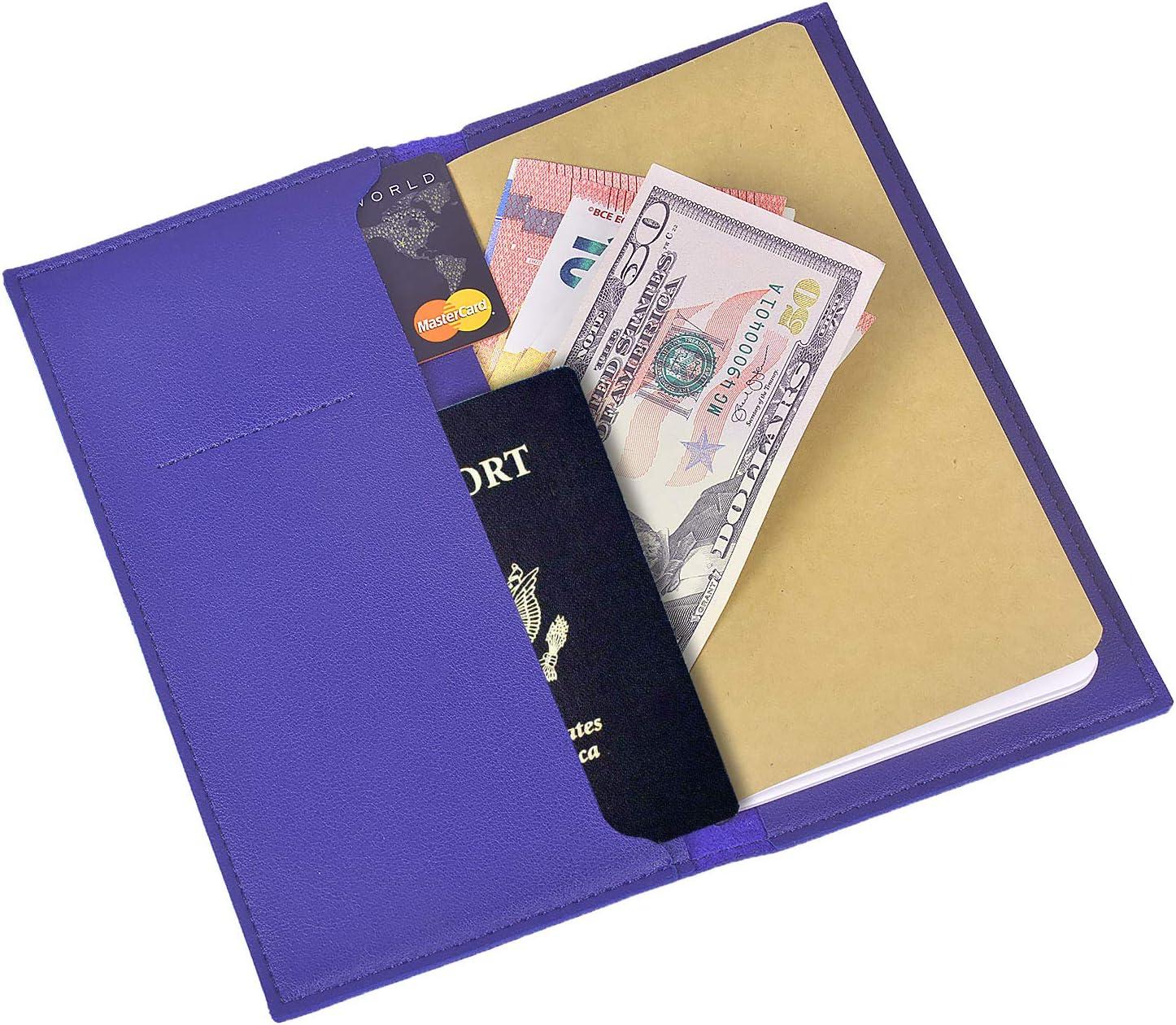 Larcenciel Blocco note da viaggio Riempibile Scrivere un quaderno w//Custodia per passaporto 3 inserti//Titolare della carta premio Copertina in pelle Diario personale Bullet Journal,Nota sul campo