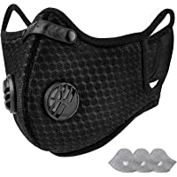 AstroAI Dust Face Mask with Filters - Personal Protective Adjustable Reusable for Running, Cycling, Outdoor Activities