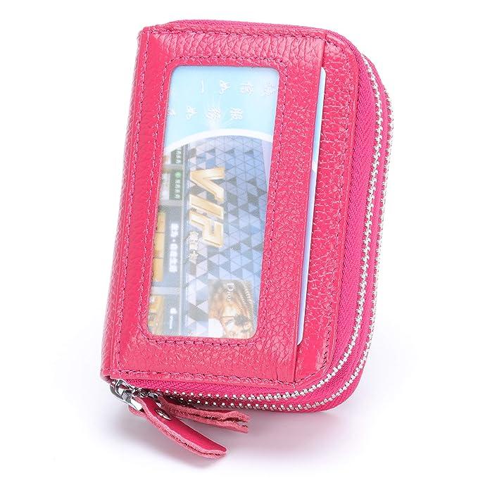4eefc64a9135 Amazon.com: MuLier Top Genuine Leather Women Cash Purse RFID ...
