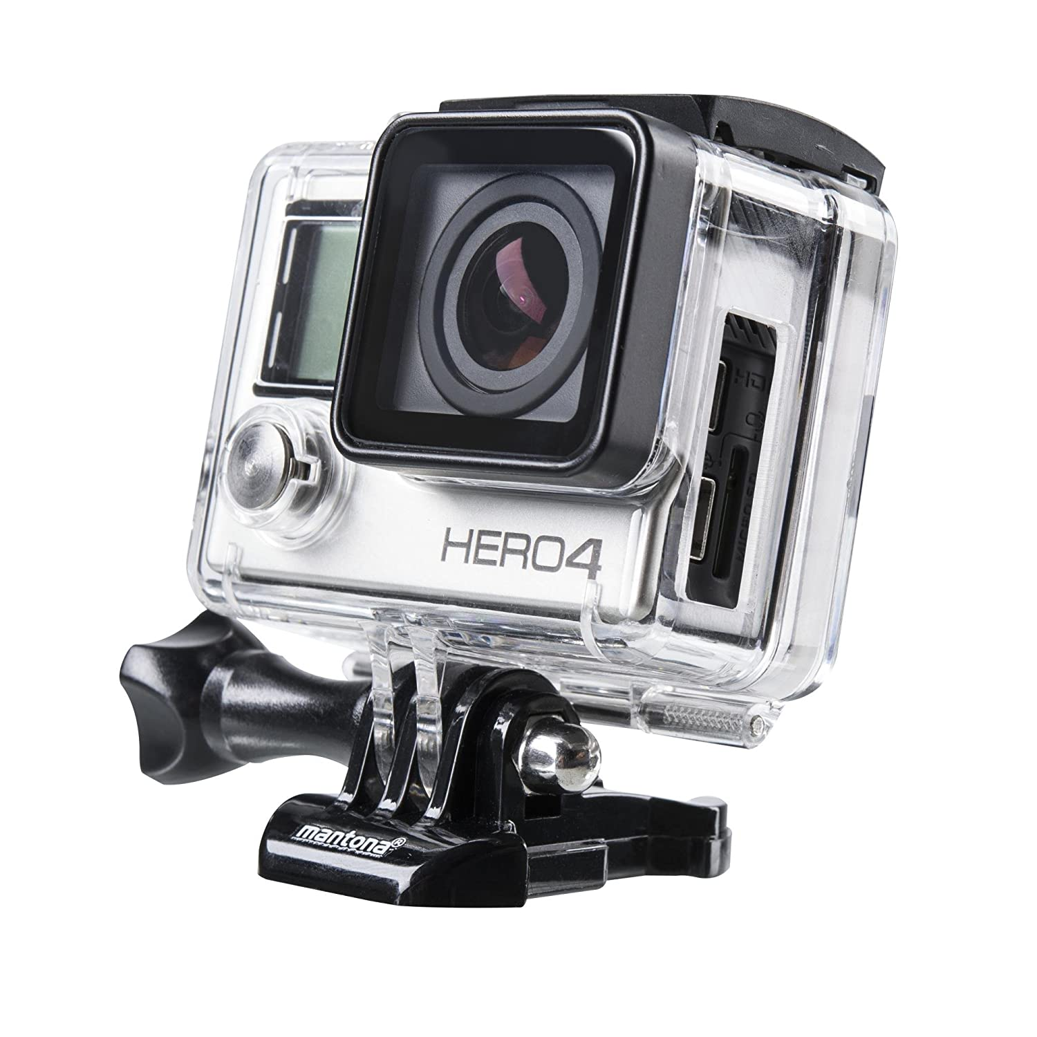 Amazon.com: Mantona 21038 - Carcasa para GoPro Hero 3+/4 ...