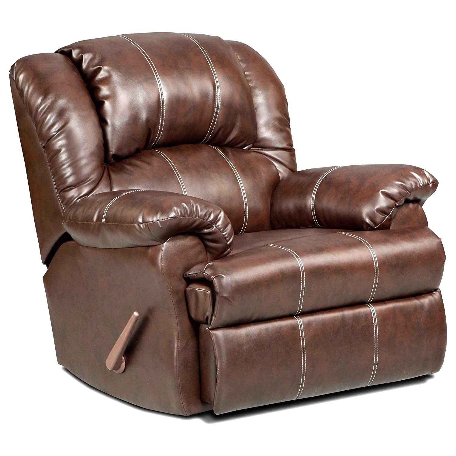 Roundhill Furniture Brandan Bonded Leather Dual Rocker Recliner Chair