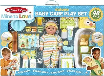 Melissa & Doug Deluxe Baby Care Play Set
