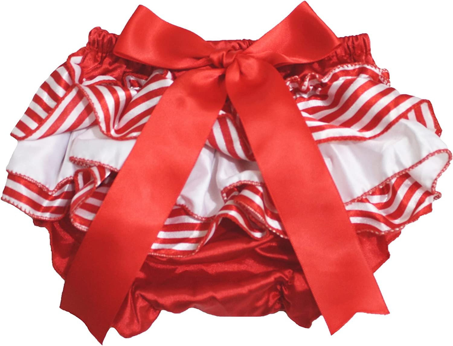 Petitebella Dress Xmas Red White Stripes Bloomer for Baby 6-24m