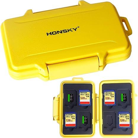Amazon.com: Honsky - Tarjetero impermeable para tarjetas SD ...