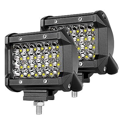 LED Pods Lights Spot LED Cube Lights Teochew-LED 2Pcs 144W 4 Inch Off Road Light Bars CREE LED Spot Driving Lights Fog Lights for Truck ATV UTV 4x4 Tractor Jeep SUV Boat Motorcycle: Automotive