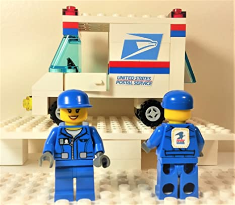 Amazon.com  Building Toys USPS Postal Service Mail Delivery Truck ... 434b02433857