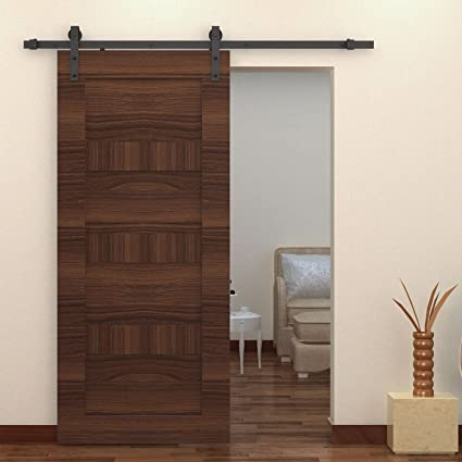 Puerta corredera de madera Cozime de granero, puerta corredera, pack ...
