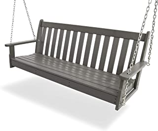 "product image for POLYWOOD GNS60GY Vineyard 60"" Swing, Slate Grey"