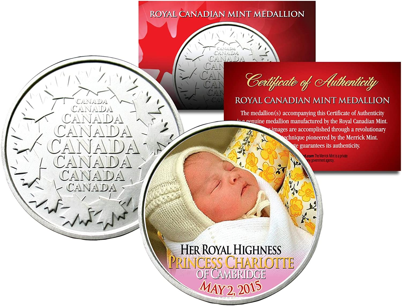 Her Royal Highness PRINCESS CHARLOTTE of Cambridge Royal Canadian Mint Medallion
