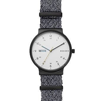 Skagen Reloj Analógico para Hombre de Cuarzo con Correa en Nailon SKW6454: Amazon.es: Relojes