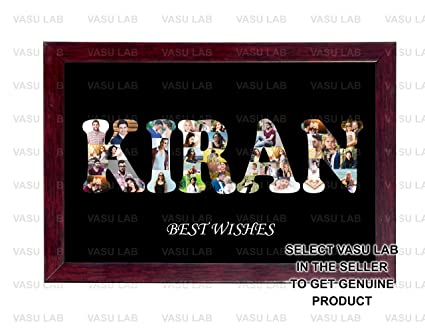 Buy 8in X12 in PERSONALIZED PHOTO NAME COLLAGE (ANY NAME ) COLLAGE ...