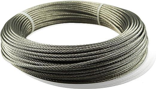 Amazon.com: Muzata - Cable de alambre de acero inoxidable ...