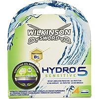 Wilkinson Sword Hydro 5 Sensitive - Recambio de Cuchillas de Afeitar de 5 Hojas para Hombres con Piel Sensible, Banda…