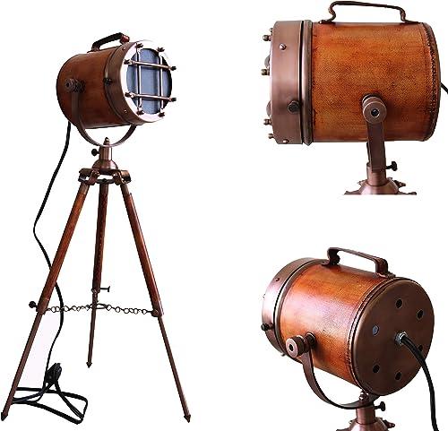 Marine Vintage Low Floor Lamp Antique Studio Model Searchlight