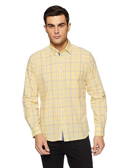 d3d68a3fb0 Pepe Jeans London Men s Casual Shirt  (8907557206881 PIMW100007 X-Large Yellow)
