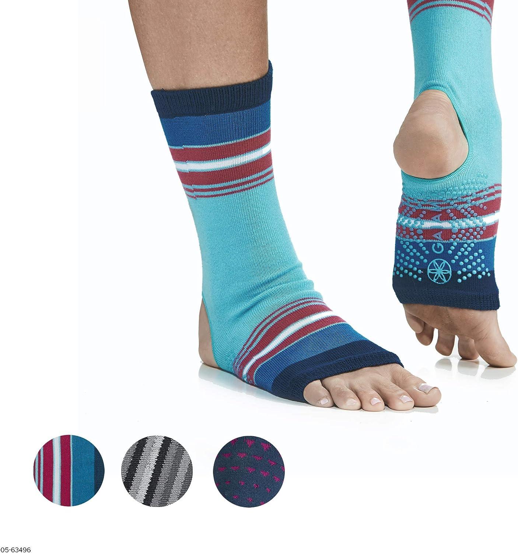 Gaiam Yoga Sock Anklets - Grippy Leg Warmer Ankle Socks for Yoga, Barre, Pilates, Dance, Aerobics