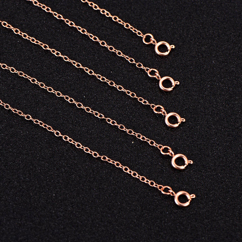 5 Piezas Extensor de Collar Set de Cadena de Extensi/ón de Pulsera para Manualidades de Collar y Pulsera Fabricaci/ón de Bisuter/ía Dorado