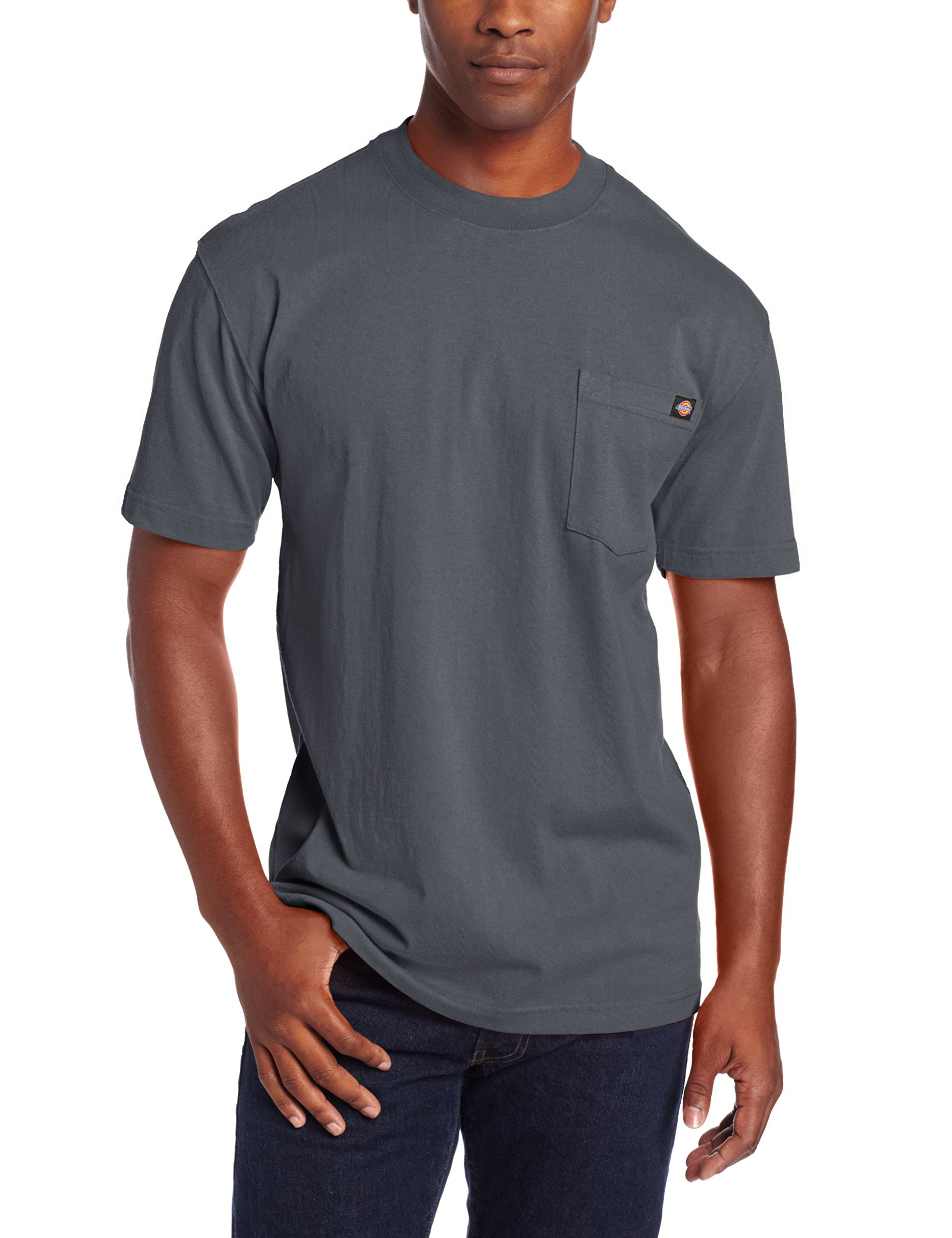 Dickie's Men's Heavyweight Crew Neck Short Sleeve Tee Big-tall,Charcoal,2X-Large Tall by Dickies (Image #1)