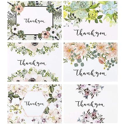 Thank You Cards Vintage Floral Bulk Set Of Blank Note For Wedding Bridal
