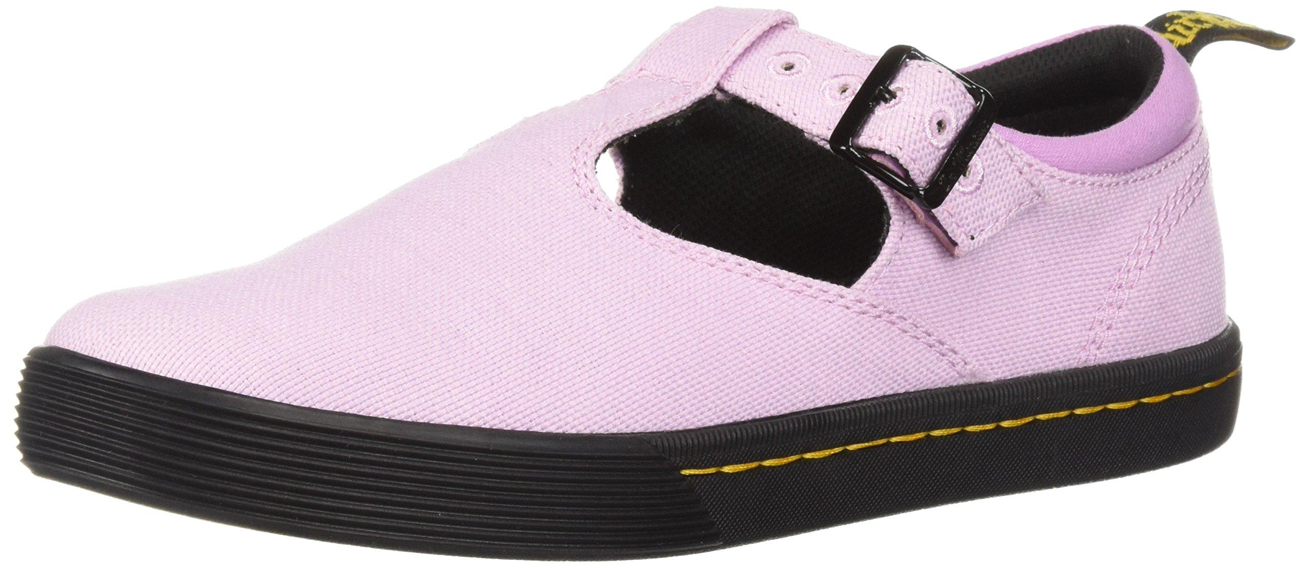 Dr. Martens Women's Winona Mary Jane Flat, Mallow Pink Woven Textile+Fine Canvas, 7 Medium UK (9 US)
