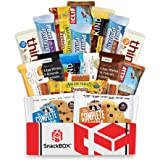 Healthy Protein Bars Fitness BOX, Cookies, Snacks Care Package Sampler, Variety Energy Basket (20 Count) for Athletes Weightlifters College, Runners, Fathers Day and More! | Gift Box By SnackBOX