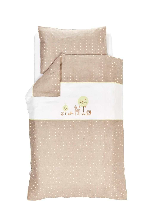 Forest Animal Bed Cover Set, 100 x 135 cm, Green Traeumeland Traeumeland TT15402