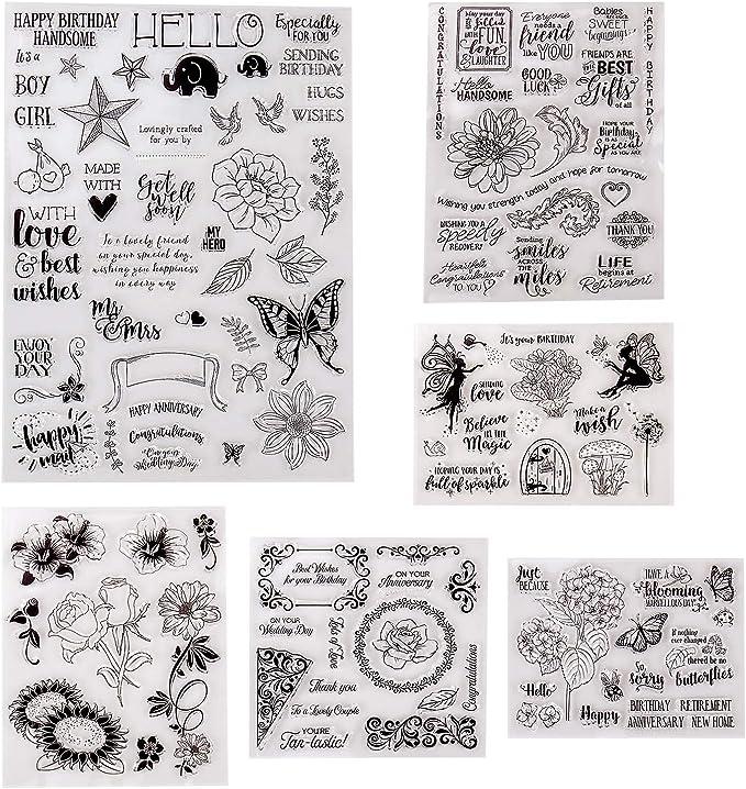 J/_Feifei Xmas Deer Tree Silicone Clear Seal Stamp DIY Scrapbooking Embossing Photo Album Decorative Paper Card
