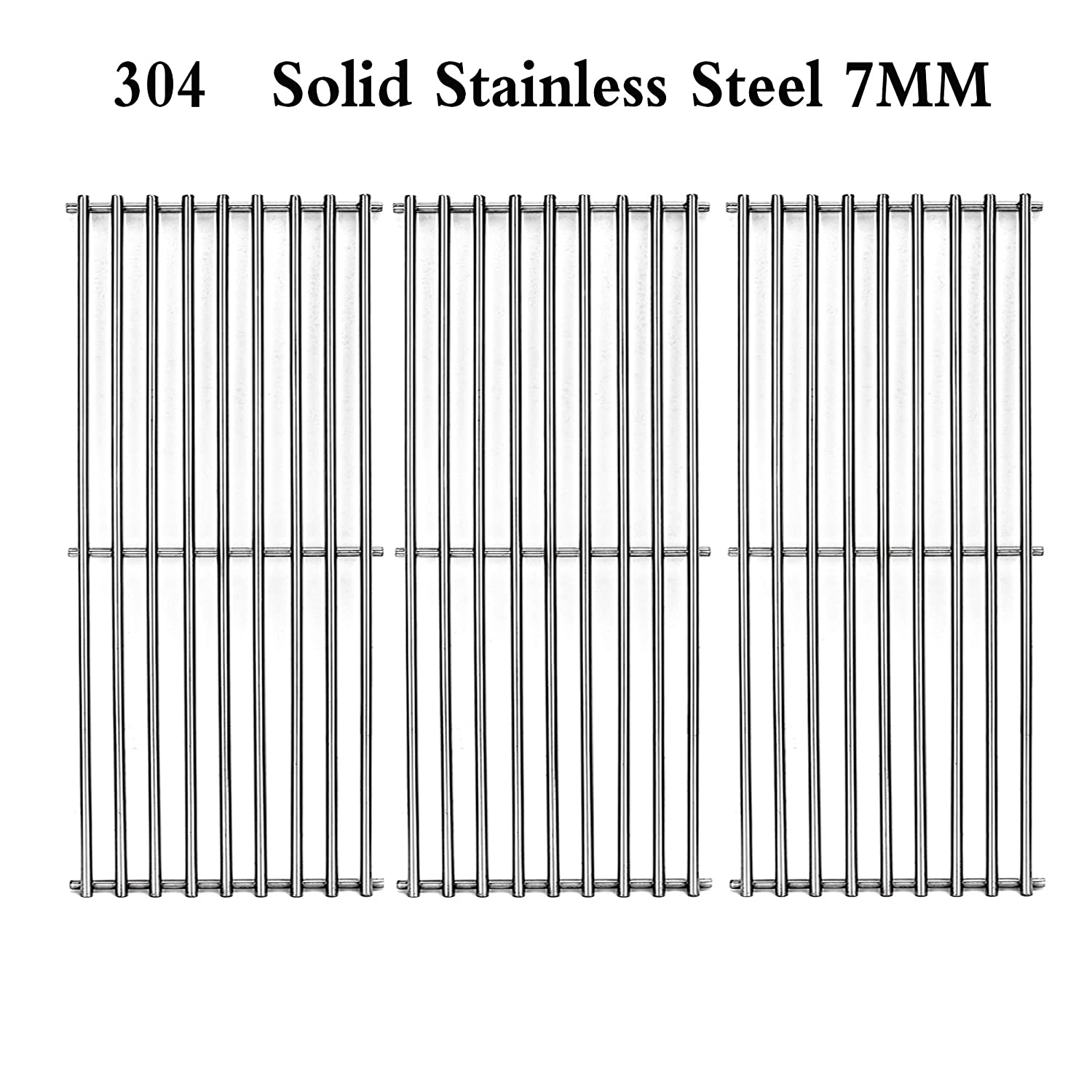 Htanch SES703(3-Pack) Stainless Steel Cooking Grate for Select Kitchen Aid 720-0787D Brand Gas Grill-griddles