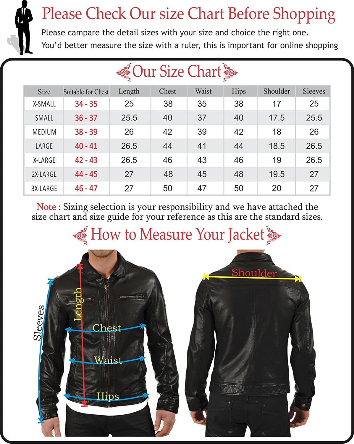 Mens Stylish Lambskin Genuine Leather Jacket 128