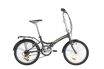 Atala Greenbay - Bicicleta plegable de 20 pulgadas en color antracita y verde, de 6
