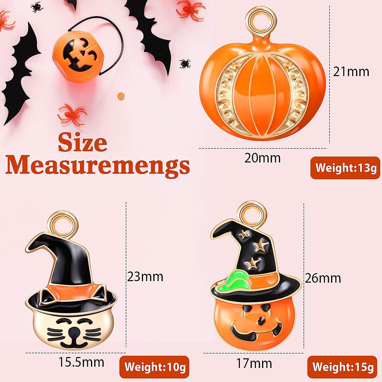argent massif Charme Halloween cadeaux Halloween Pumpkin