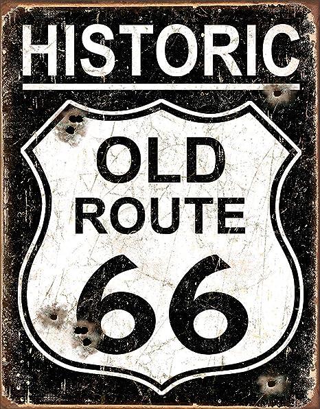 Tin Sign Nostalgie - Cartel de Chapa - Old Route 66 - SHL ...