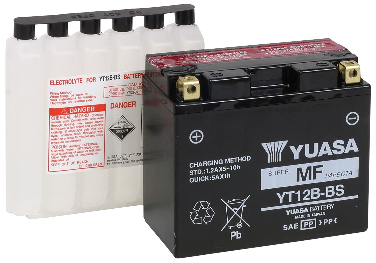 Varta Sealed and Charged Motorcycle Battery Powersports AGM YT12B-4/YT12B-BS